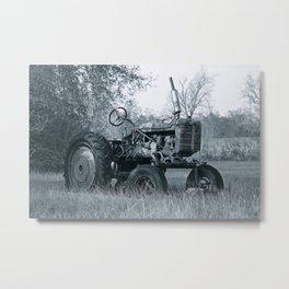 Farmer's Best Friend - B & W Metal Print