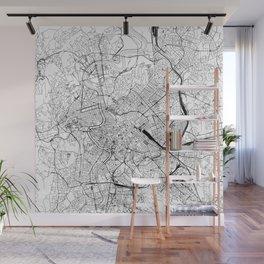 Rome White Map Wall Mural