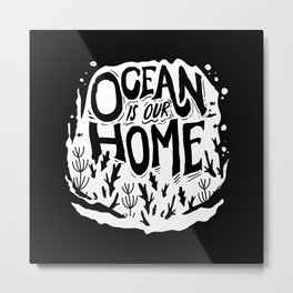 Ocean Environmental Protection Plastic Metal Print