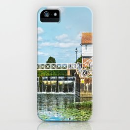 Abbey Mill Weir At Tewkesbury iPhone Case