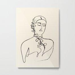 Minimalist Abstract Woman II Metal Print