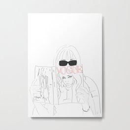 Anna Fashion Editor Metal Print