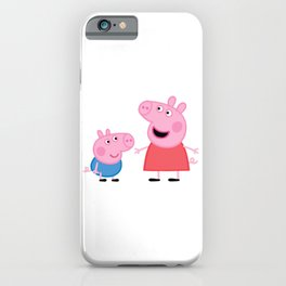 Peppa Pig and George Pig iPhone Case