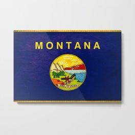 Montana flag Metal Print