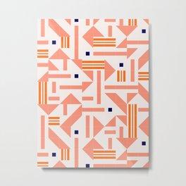 Random Tiles #society6 #pattern Metal Print