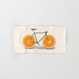 Zest (Orange Wheels) Hand & Bath Towel