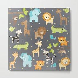 Jungle Animals Metal Print