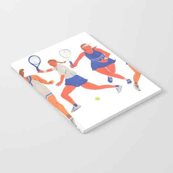 Tennis Girls by leahreenagoren