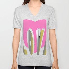 Love // Cute Valentine Decor  Unisex V-Neck