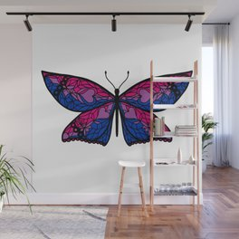 Fly With Pride: Bisexual Flag Butterfly Wall Mural