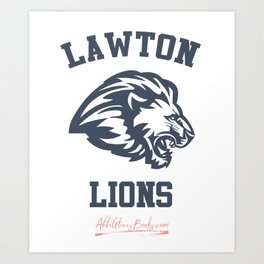The Field Party - Lawton Lions Art Print