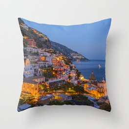 A Serene View of Amalfi Coast in Italy Throw Pillow