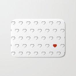 Hearts - Classic Red Bath Mat