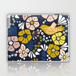 Blue wellness garden - florals matching to design for a happy life Laptop & iPad Skin