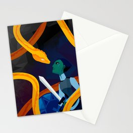 Facing the Serpent Stationery Cards