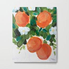 acrylic oranges - sweetie no. 3 Metal Print