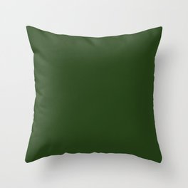 Solid Dark Forest Green Simple Solid Color All Over Print Throw Pillow