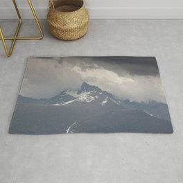 Snow Storm on the Mountain Rug