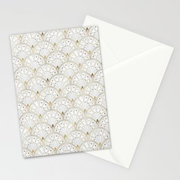 marble and gold art deco scales pattern Stationery Cards
