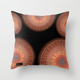 Becoming on Black Background Throw Pillow
