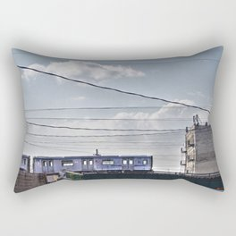 No 2 Subway Train, Passing by the South Bronx, NYC  Rectangular Pillow