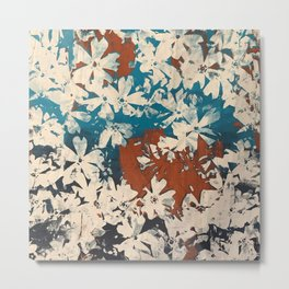 Weston Flowers, blues & browns Metal Print