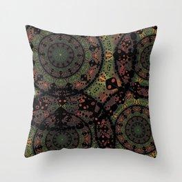 Mandala in Autumn Colors Throw Pillow