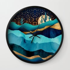 Indigo Desert Night Wall Clock