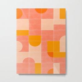 Retro Tiles 03 #society6 #pattern Metal Print