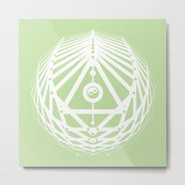 Radiant Abundance (light green-white) Metal Print