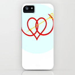 Heart and Arrow Just for You iPhone Case