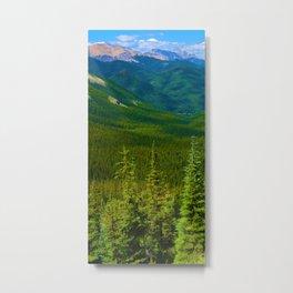 Views Along the Sulphur Skyline Trail in Jasper National Park, Canada Metal Print
