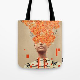 Bird Flight in Autumn Tote Bag