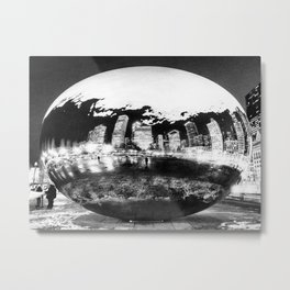 The Chicago Bean Metal Print
