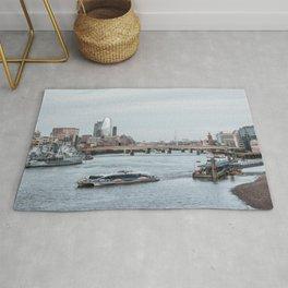 London River Thames Landscape Rug