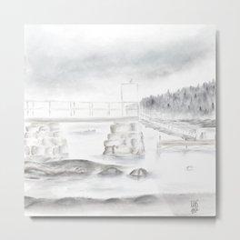 Fog at Frazer Point, Winter Harbor • Schoodic Series Metal Print