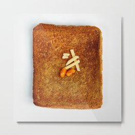 Cheese & Baked Beans on toast Metal Print