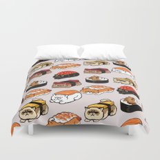 Sushi Persian Cat Duvet Cover