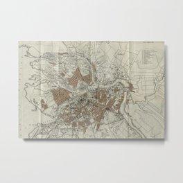 1893 Historic Map of St. Petersburg Metal Print