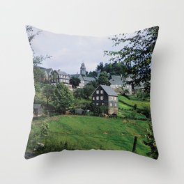 Nordenau im Sauerland, 1958 Throw Pillow