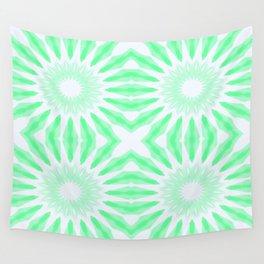 Seafoam Watercolor Pinwheel Flowers Wall Tapestry