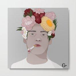 Smoking flowers Metal Print
