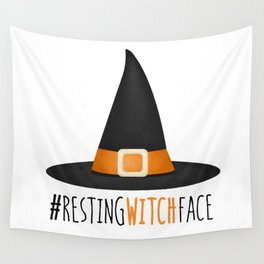 #RestingWitchFace Wall Tapestry