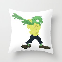 Funny Dabbing Zombie Halloween Dab Costume Throw Pillow