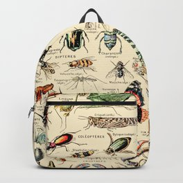 Vintage Insect Identification Chart // Arthropodes by Adolphe Millot XL 19th Century Science Artwork Backpack