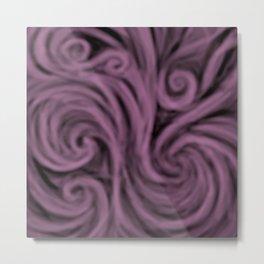 dark lavender swirl Metal Print