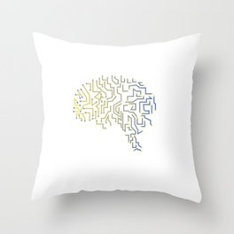 Gamer Programmer Coder Gift Funny Brain Men WOmen Shirt Throw Pillow