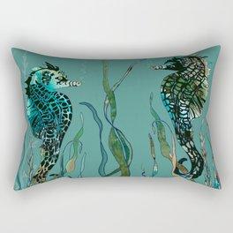 Sea Horse Haven.... Rectangular Pillow