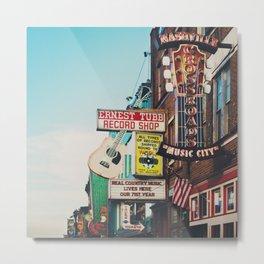 Lower Broadway, Nashville print  Metal Print