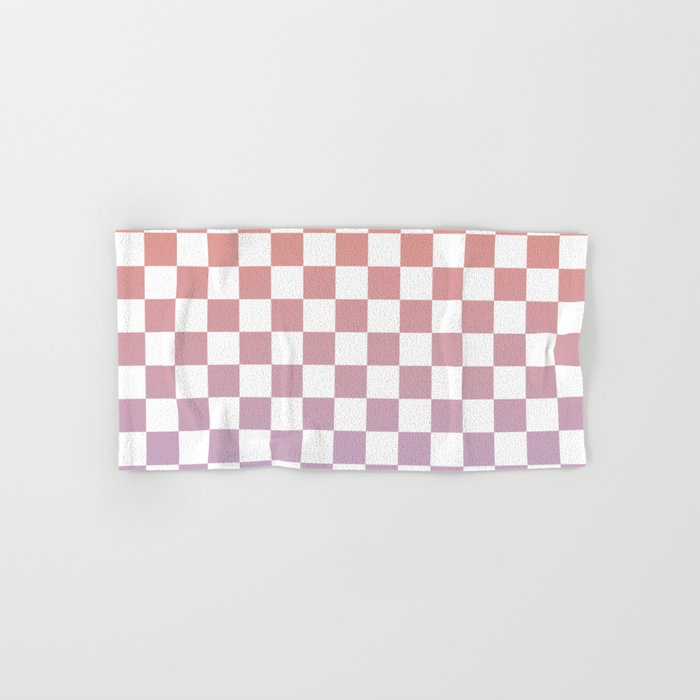 Checkerboard Sunrise Hand & Bath Towel